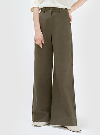 Cotton solid wide pants 패션쇼핑몰 모스빈(Mossbean)
